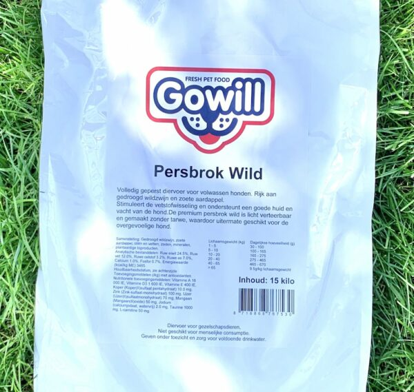 Wild gowill persbrok 15kg